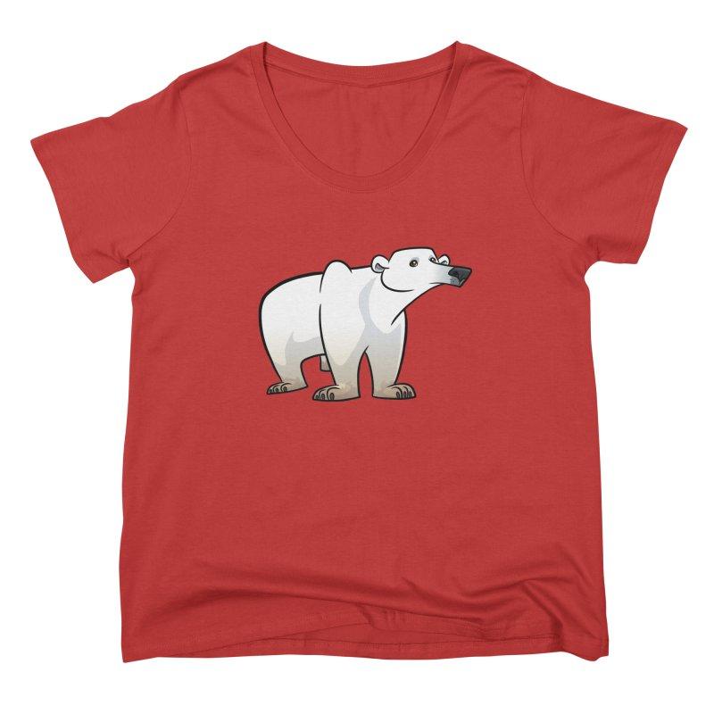 Polar Bear Women's Scoop Neck by binarygod's Artist Shop