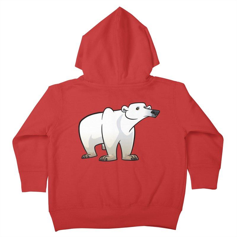Polar Bear Kids Toddler Zip-Up Hoody by binarygod's Artist Shop