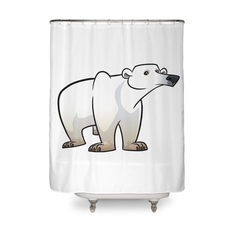 Polar Bear Home Shower Curtain by binarygod's Artist Shop