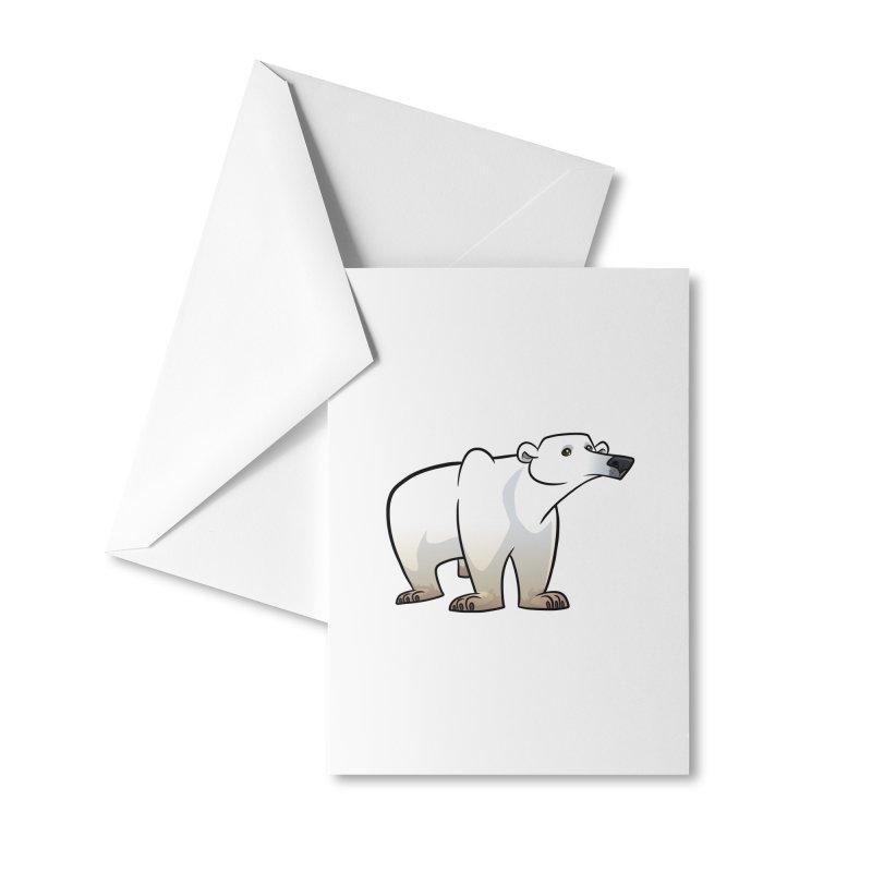 Polar Bear Accessories Greeting Card by binarygod's Artist Shop