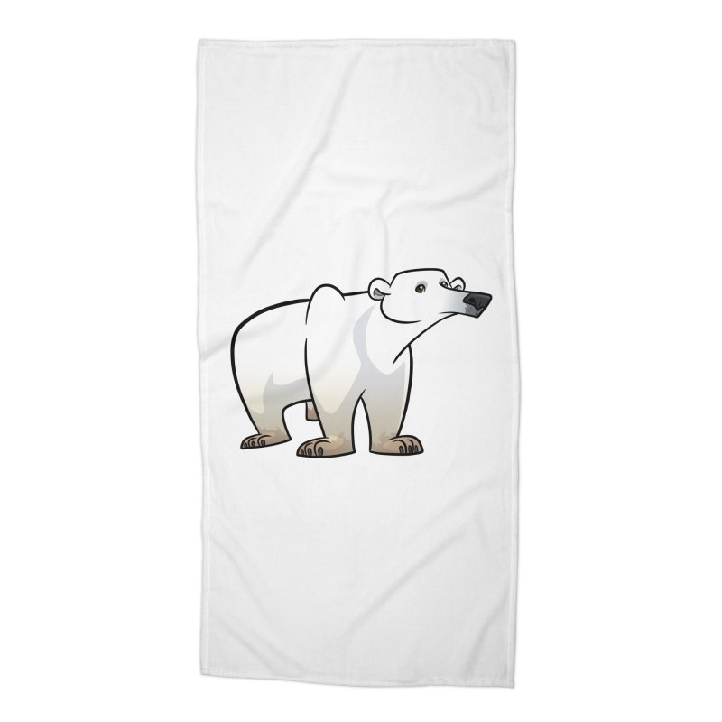 Polar Bear Accessories Beach Towel by binarygod's Artist Shop
