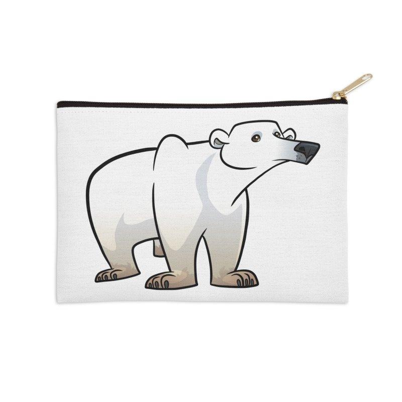 Polar Bear Accessories Zip Pouch by binarygod's Artist Shop