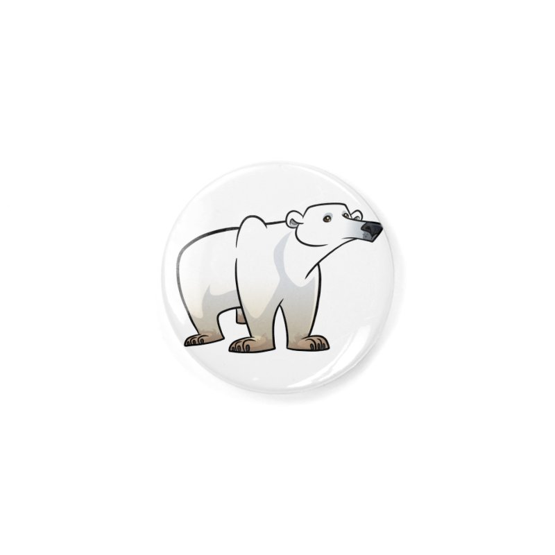 Polar Bear Accessories Button by binarygod's Artist Shop