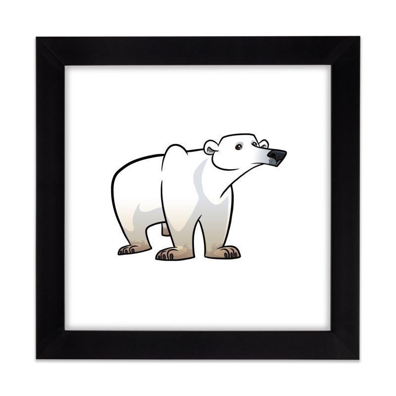 Polar Bear Home Framed Fine Art Print by binarygod's Artist Shop