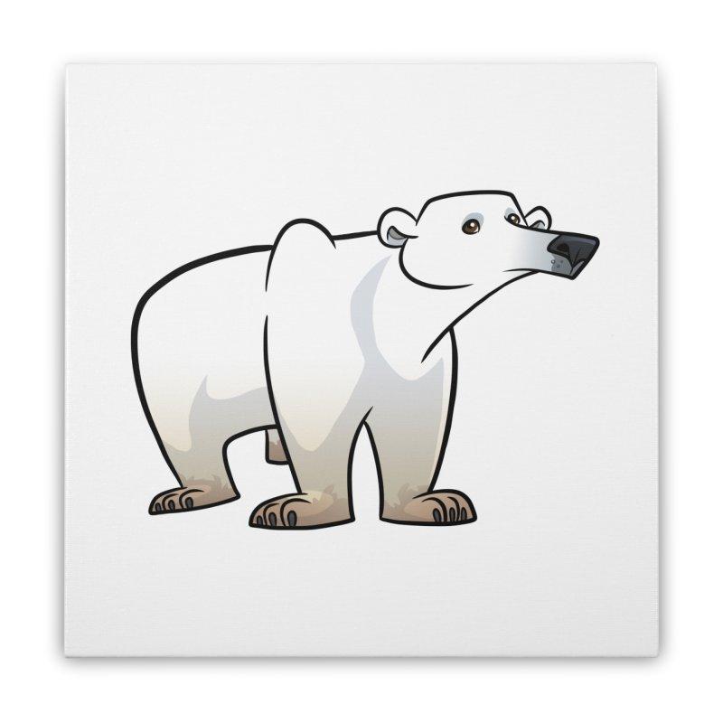 Polar Bear Home Stretched Canvas by binarygod's Artist Shop