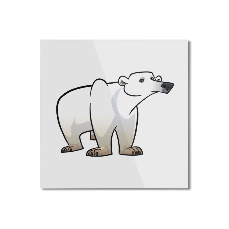 Polar Bear Home Mounted Aluminum Print by binarygod's Artist Shop