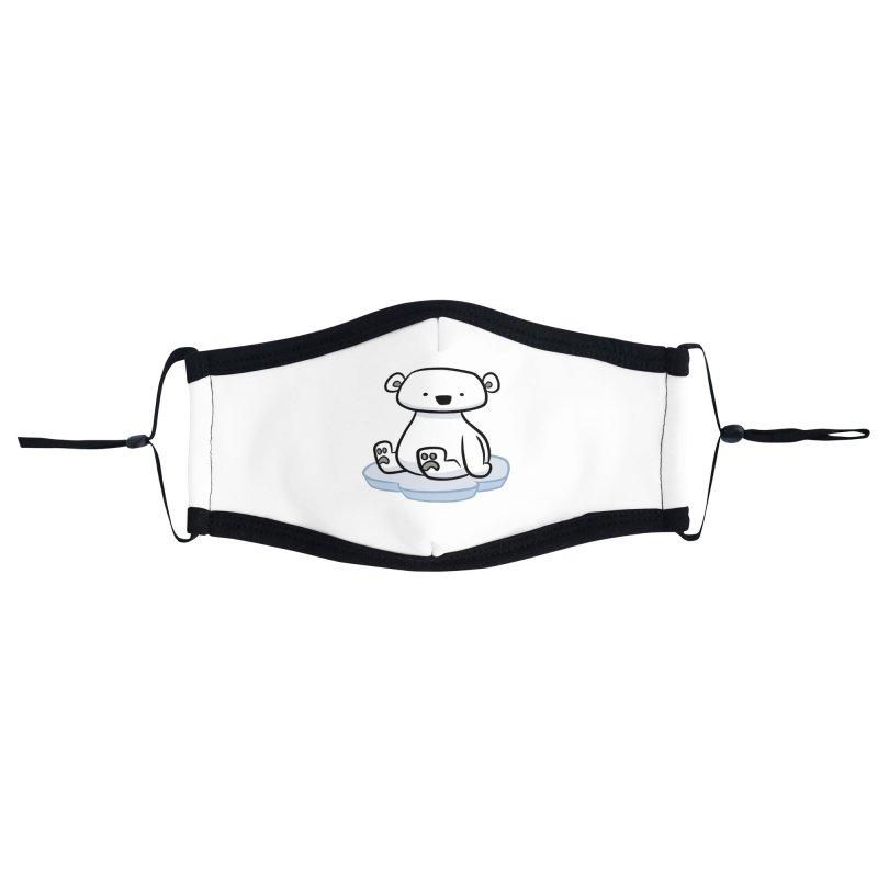 Polar Bear Kawaii Accessories Face Mask by binarygod's Artist Shop
