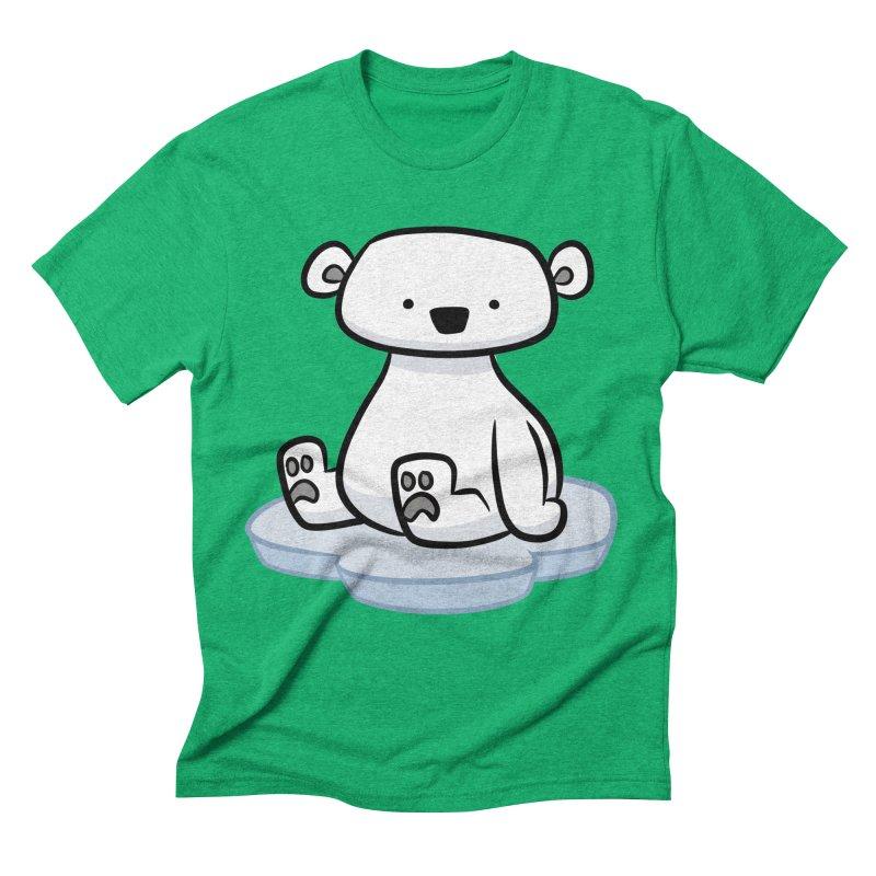Polar Bear Kawaii Men's T-Shirt by binarygod's Artist Shop