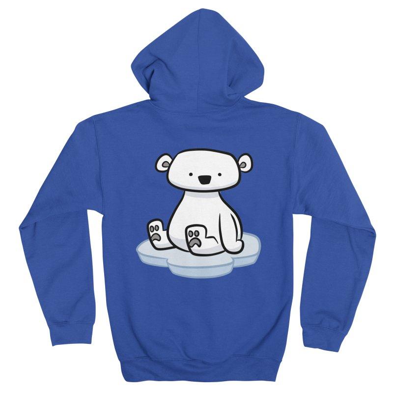 Polar Bear Kawaii Men's Zip-Up Hoody by binarygod's Artist Shop