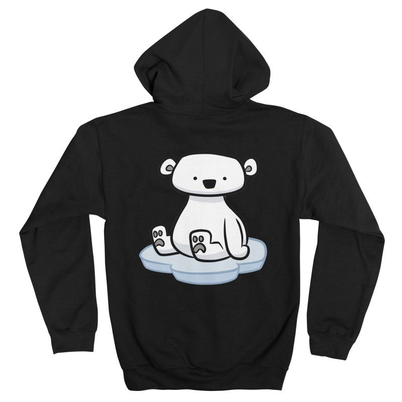 Polar Bear Kawaii Women's Zip-Up Hoody by binarygod's Artist Shop