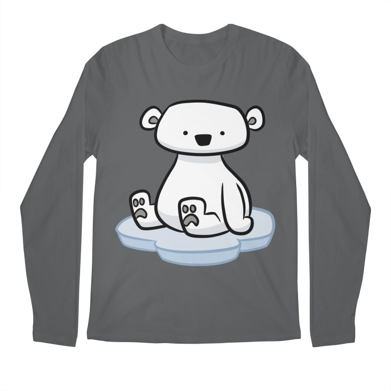 Polar Bear Kawaii Men's Longsleeve T-Shirt by binarygod's Artist Shop