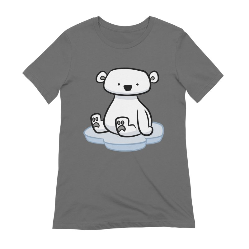 Polar Bear Kawaii Women's T-Shirt by binarygod's Artist Shop