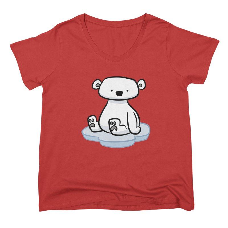 Polar Bear Kawaii Women's Scoop Neck by binarygod's Artist Shop