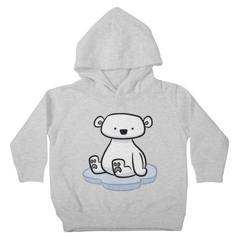 Polar Bear Kawaii Kids Toddler Pullover Hoody by binarygod's Artist Shop