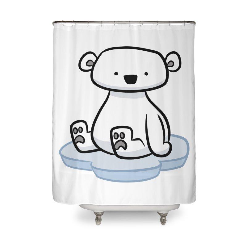 Polar Bear Kawaii Home Shower Curtain by binarygod's Artist Shop