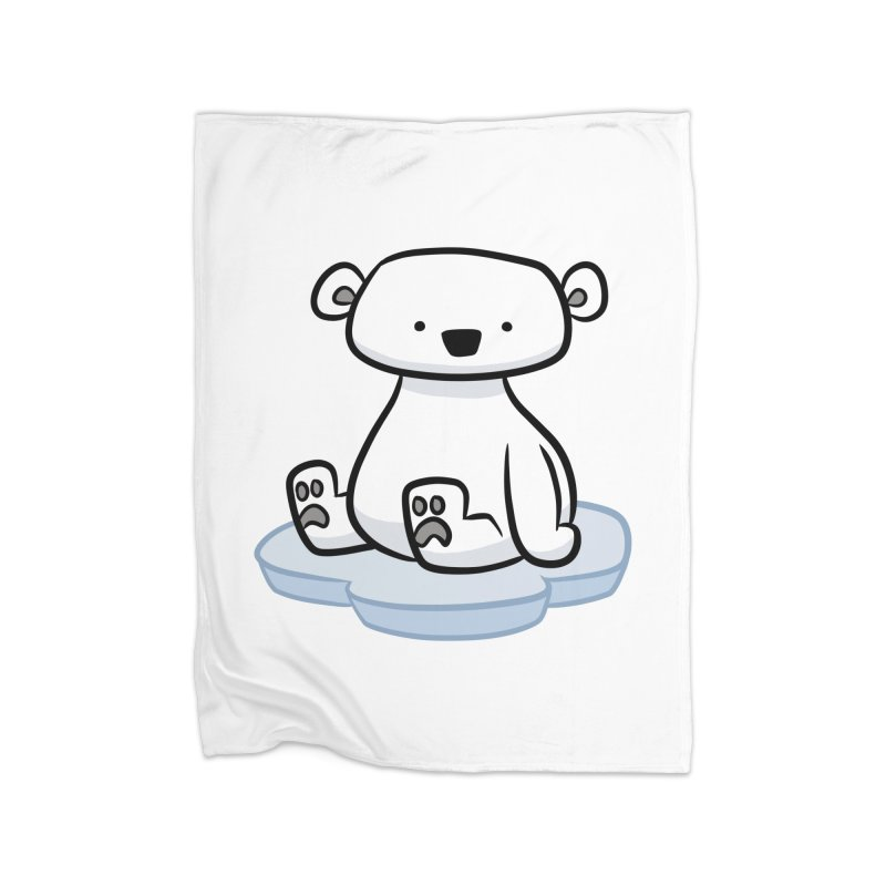 Polar Bear Kawaii Home Blanket by binarygod's Artist Shop
