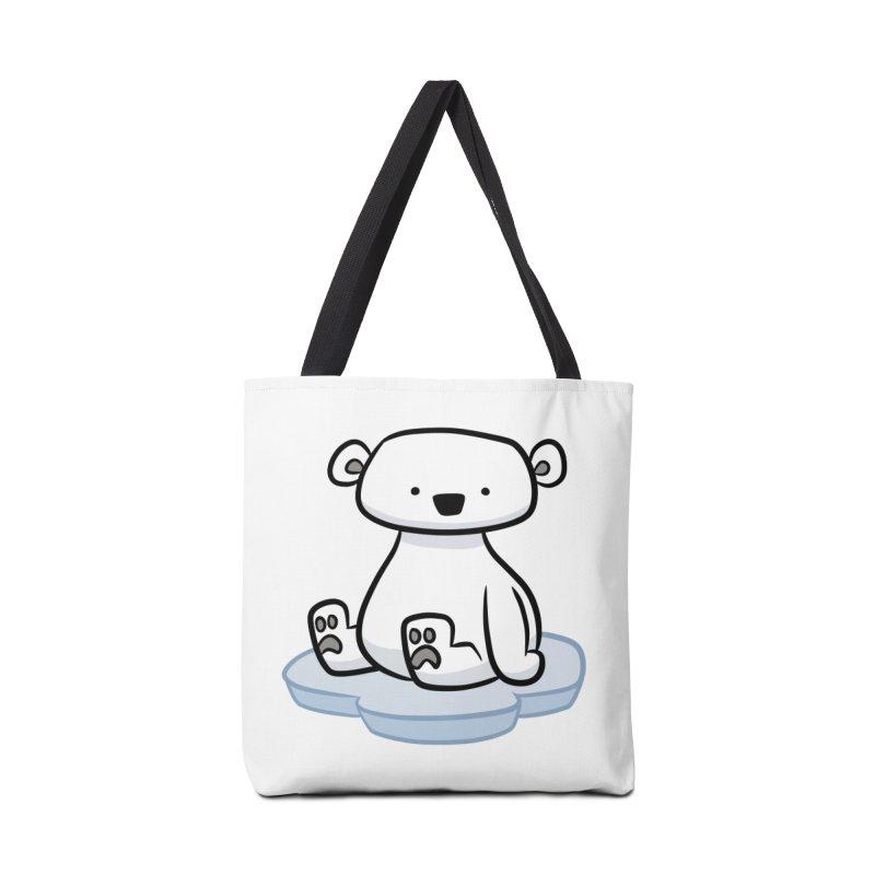 Polar Bear Kawaii Accessories Bag by binarygod's Artist Shop