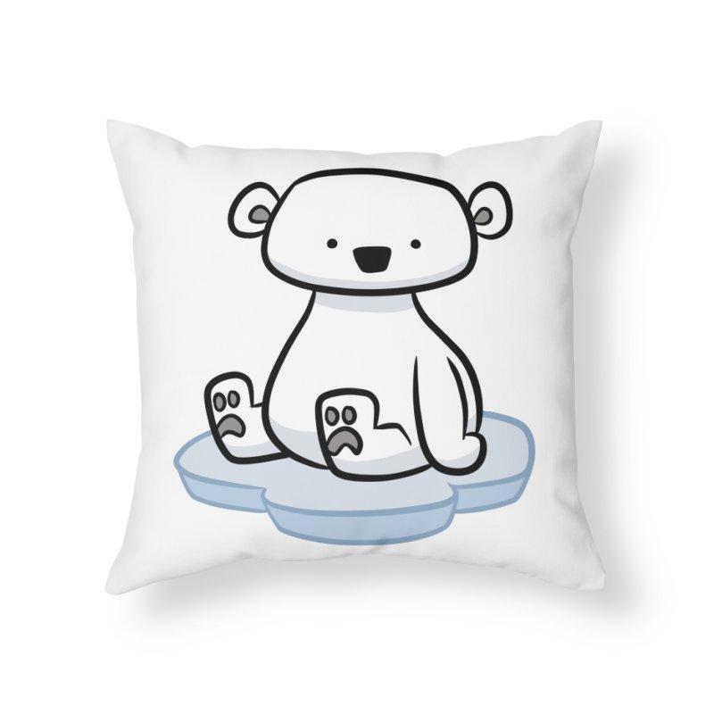Polar Bear Kawaii Home Throw Pillow by binarygod's Artist Shop