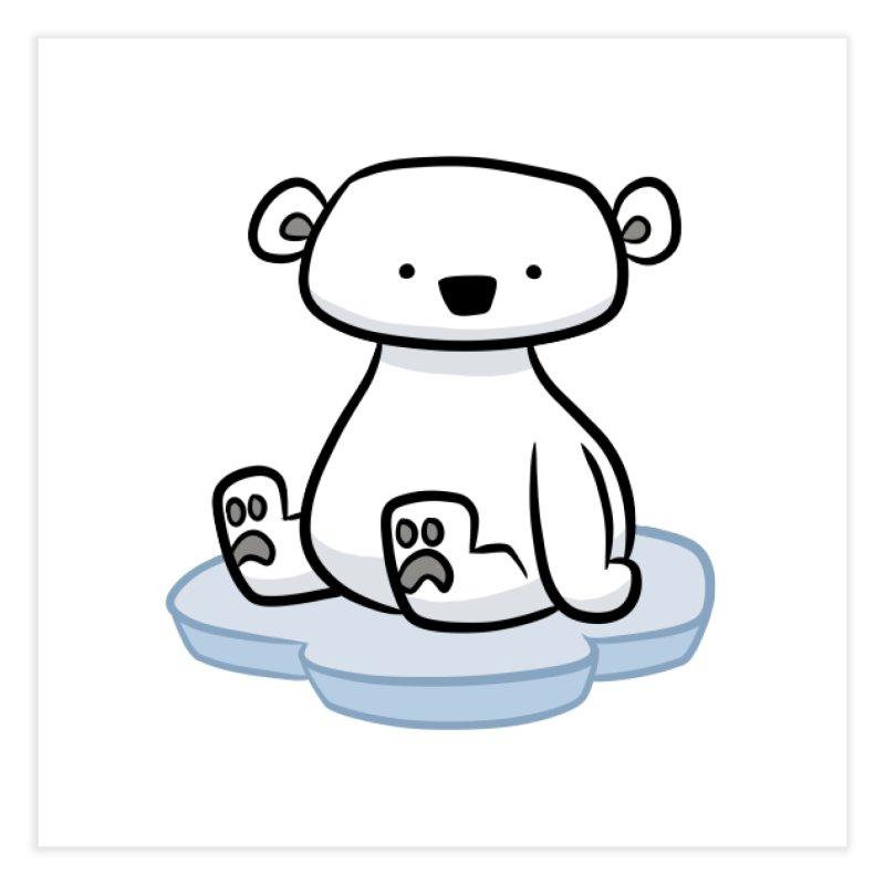 Polar Bear Kawaii Home Fine Art Print by binarygod's Artist Shop