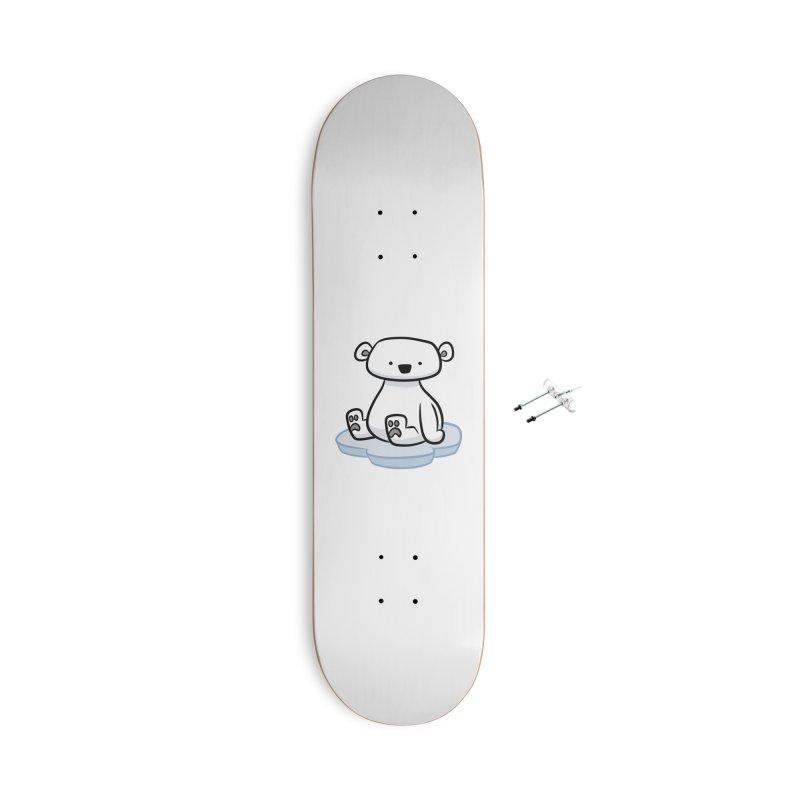 Polar Bear Kawaii Accessories Skateboard by binarygod's Artist Shop