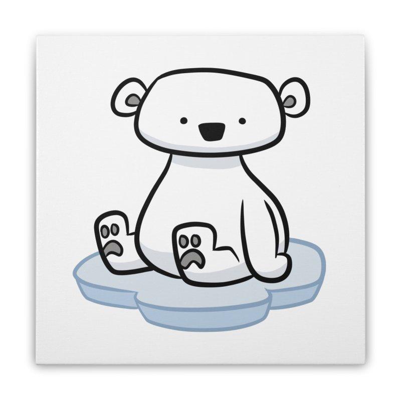Polar Bear Kawaii Home Stretched Canvas by binarygod's Artist Shop