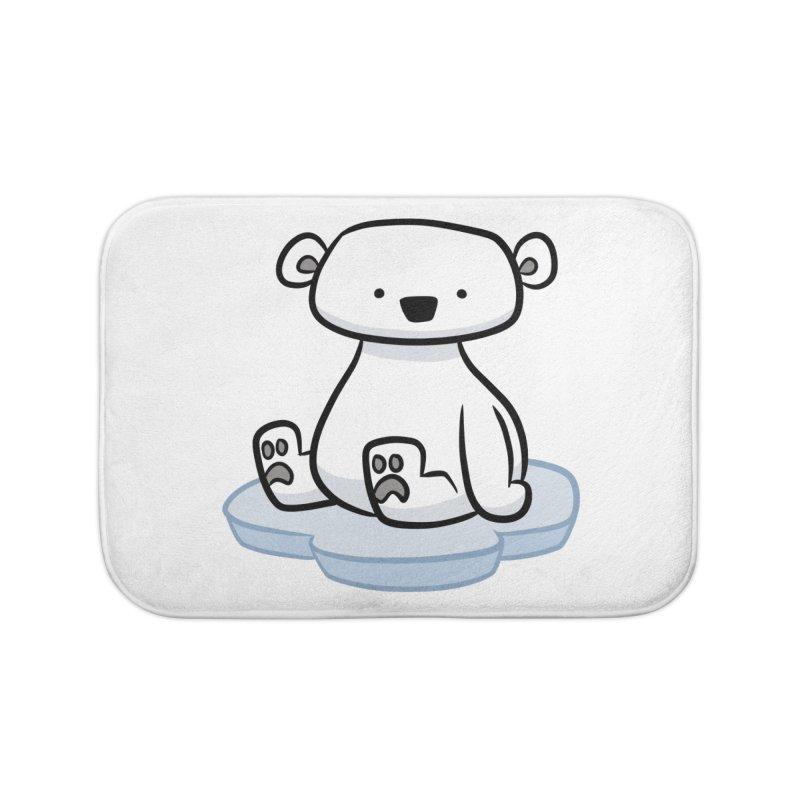 Polar Bear Kawaii Home Bath Mat by binarygod's Artist Shop