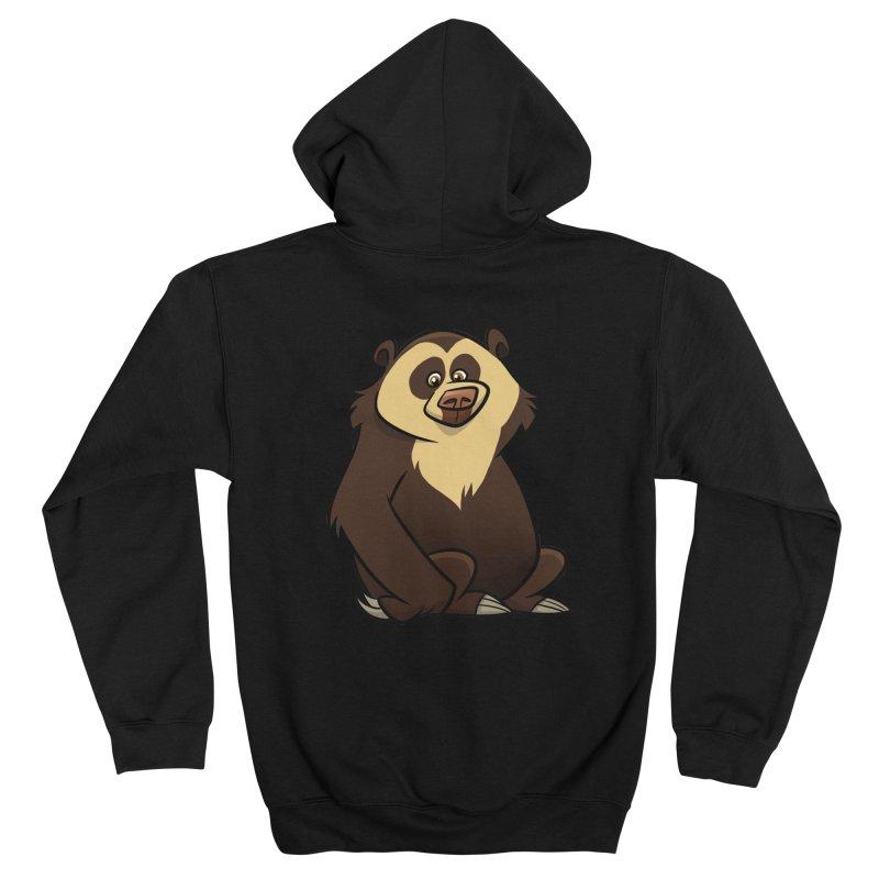 Spectacled Bear Men's Zip-Up Hoody by binarygod's Artist Shop