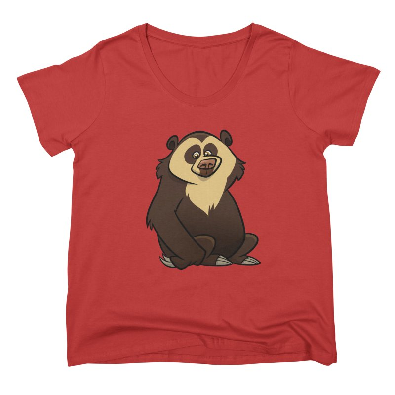 Spectacled Bear Women's Scoop Neck by binarygod's Artist Shop