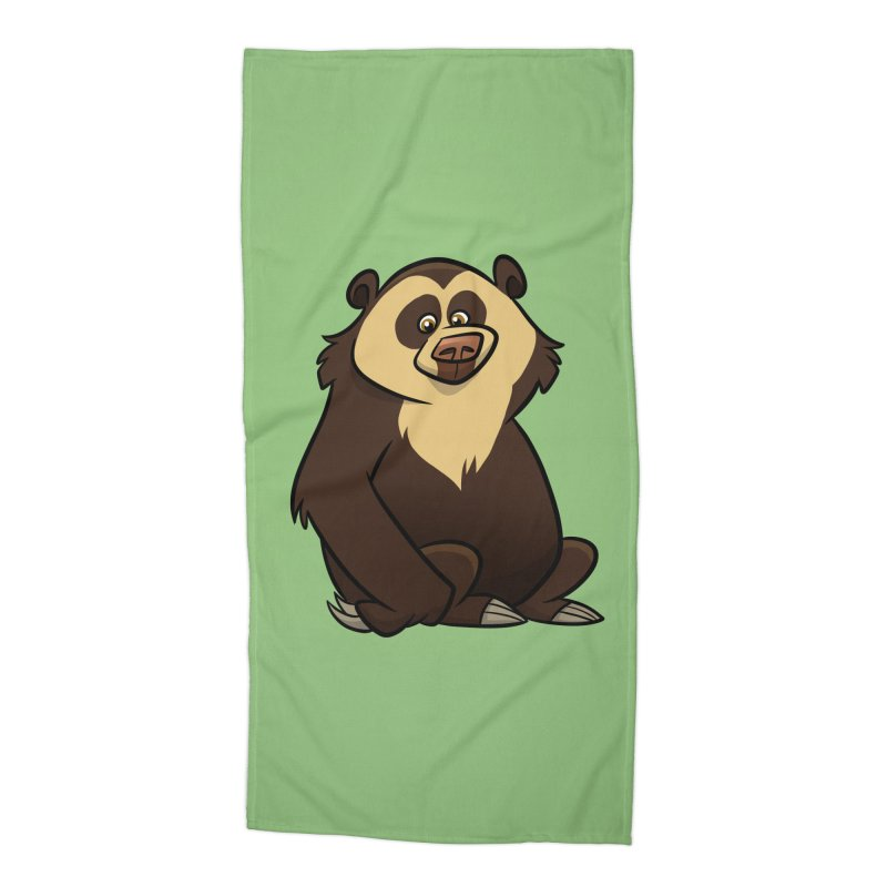 Spectacled Bear Accessories Beach Towel by binarygod's Artist Shop