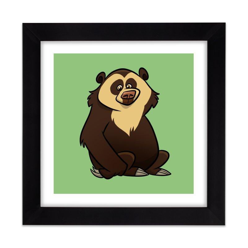Spectacled Bear Home Framed Fine Art Print by binarygod's Artist Shop