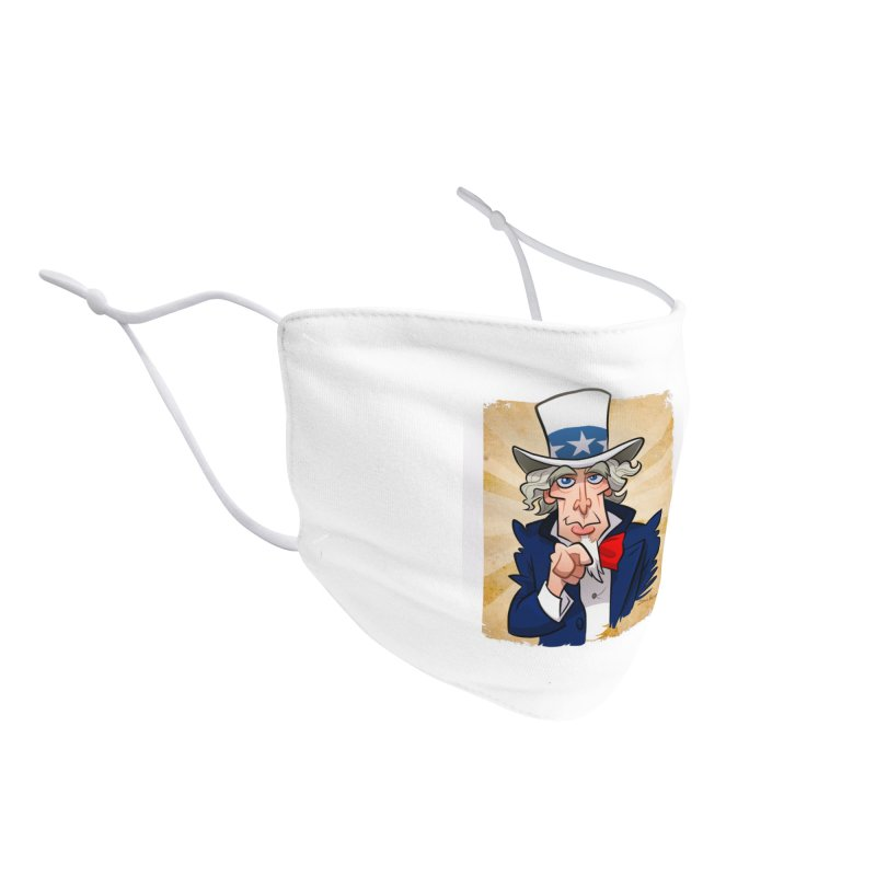 Uncle Sam Accessories Face Mask by binarygod's Artist Shop