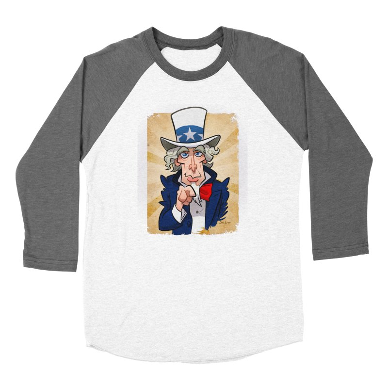 Uncle Sam Women's Longsleeve T-Shirt by binarygod's Artist Shop
