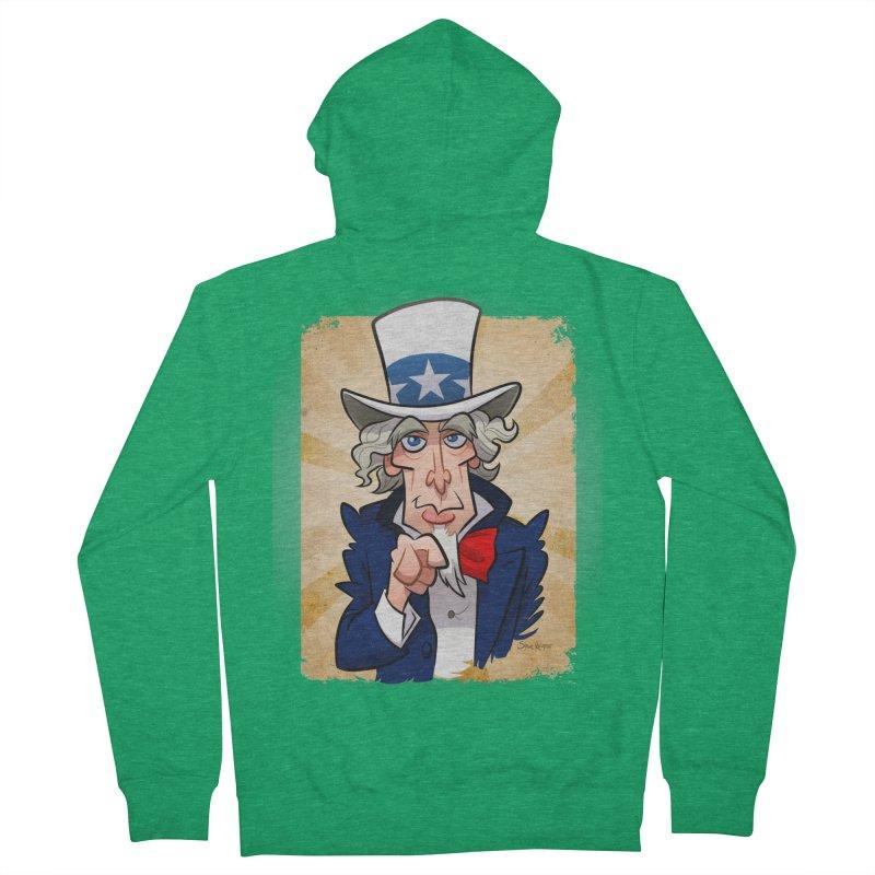 Uncle Sam Women's Zip-Up Hoody by binarygod's Artist Shop