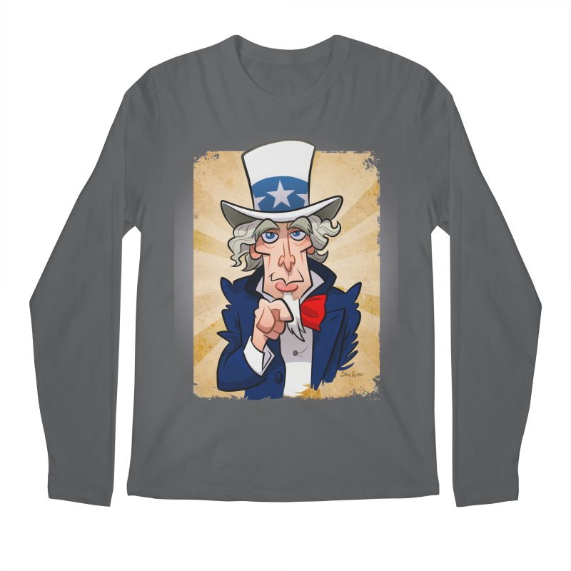 Uncle Sam Men's Longsleeve T-Shirt by binarygod's Artist Shop