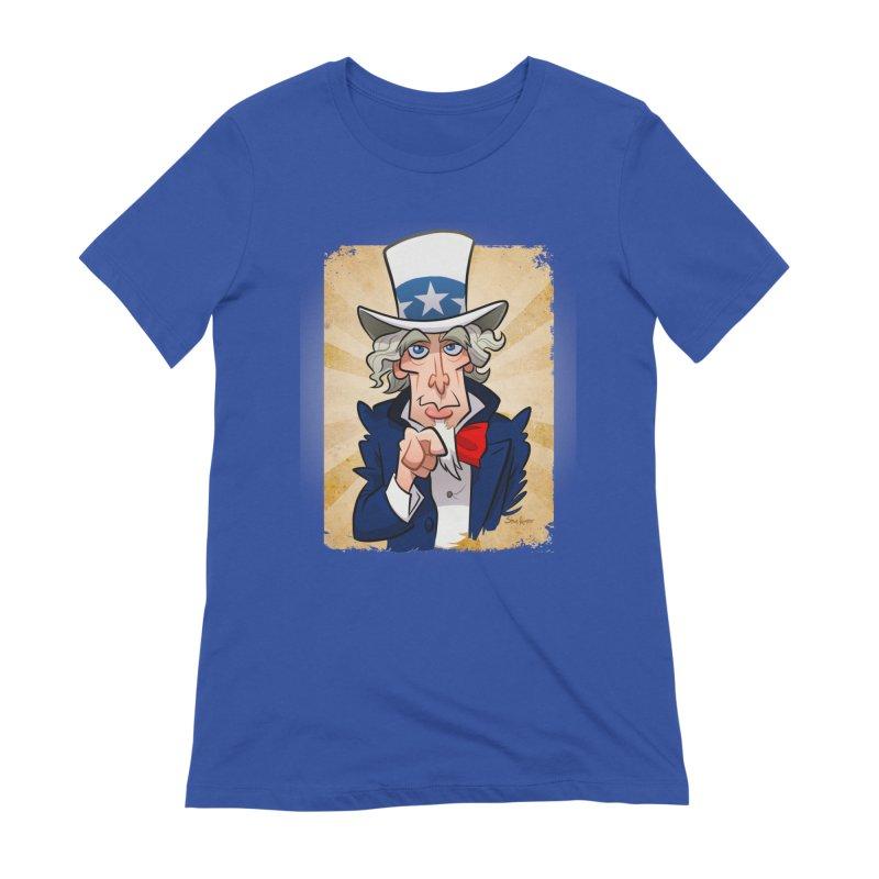 Uncle Sam Women's T-Shirt by binarygod's Artist Shop
