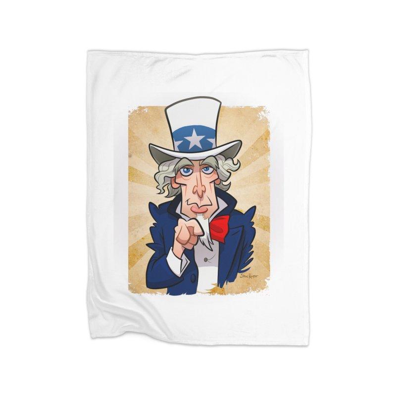 Uncle Sam Home Blanket by binarygod's Artist Shop