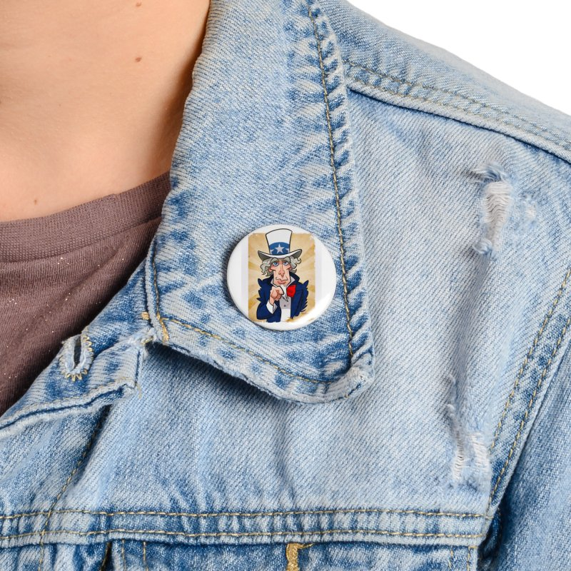 Uncle Sam Accessories Button by binarygod's Artist Shop