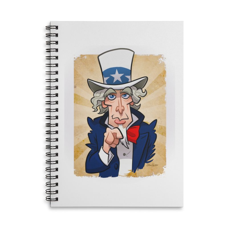 Uncle Sam Accessories Notebook by binarygod's Artist Shop