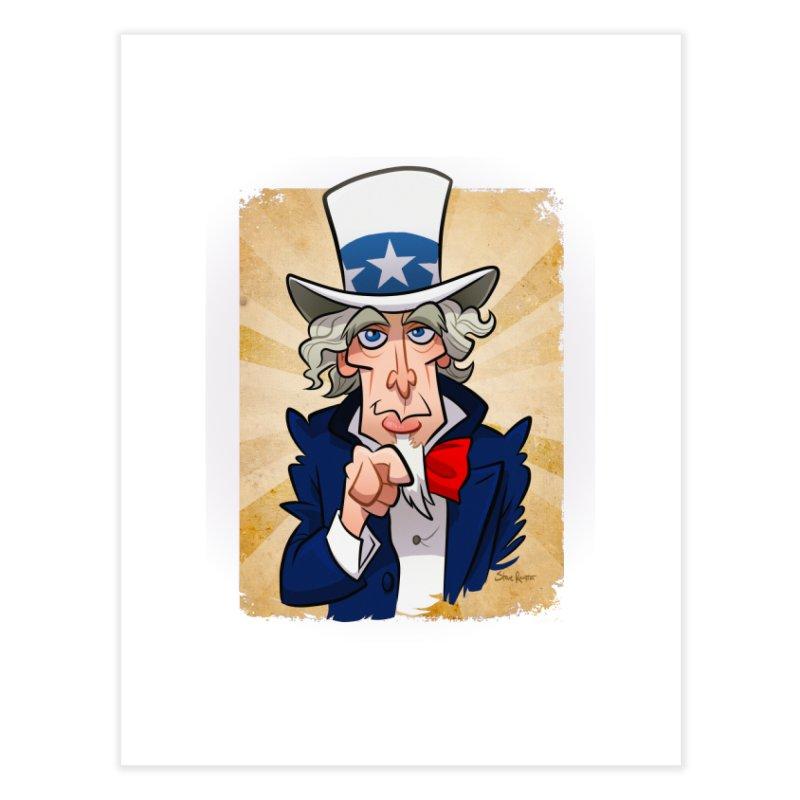 Uncle Sam Home Fine Art Print by binarygod's Artist Shop