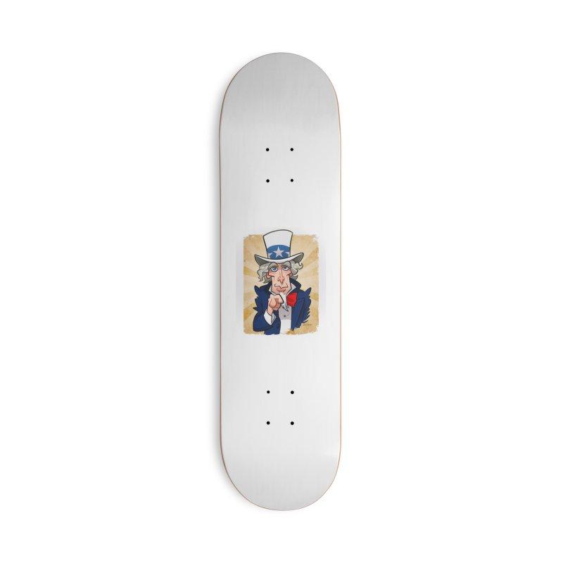 Uncle Sam Accessories Skateboard by binarygod's Artist Shop