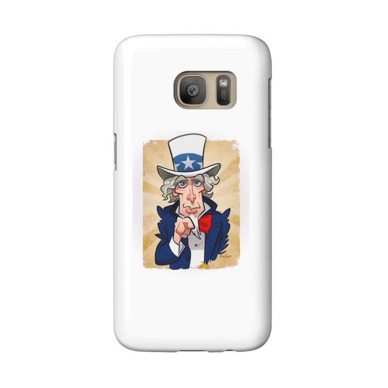Uncle Sam Accessories Phone Case by binarygod's Artist Shop