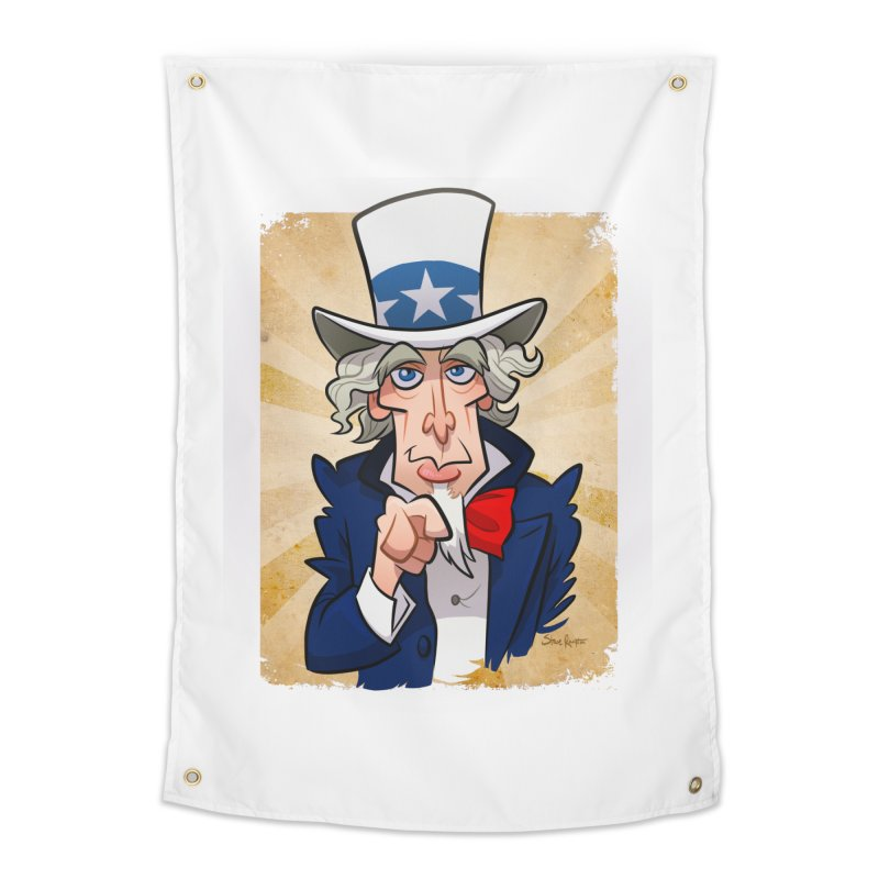 Uncle Sam Home Tapestry by binarygod's Artist Shop