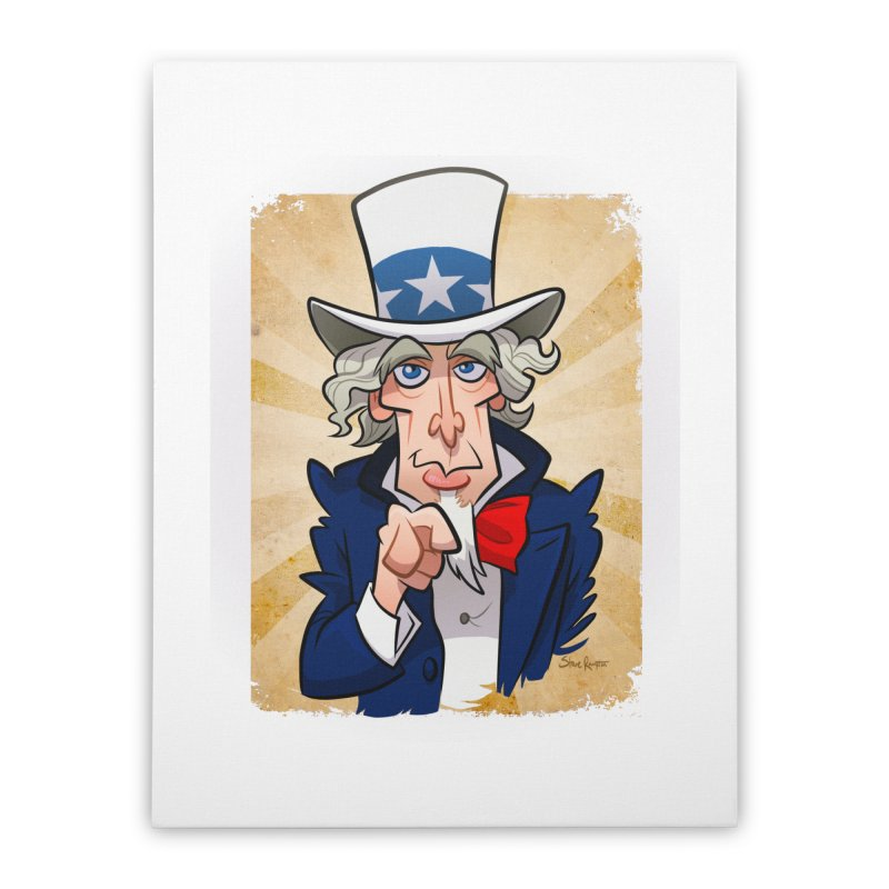 Uncle Sam Home Stretched Canvas by binarygod's Artist Shop