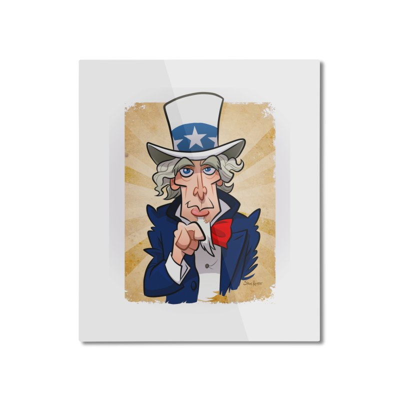 Uncle Sam Home Mounted Aluminum Print by binarygod's Artist Shop