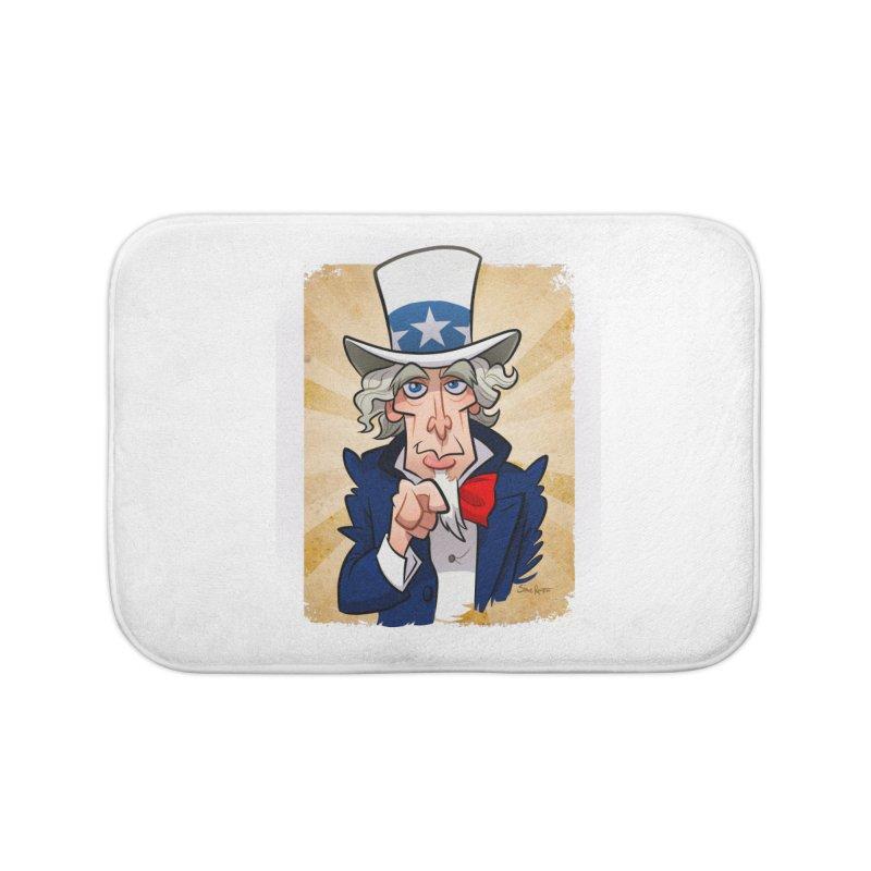 Uncle Sam Home Bath Mat by binarygod's Artist Shop