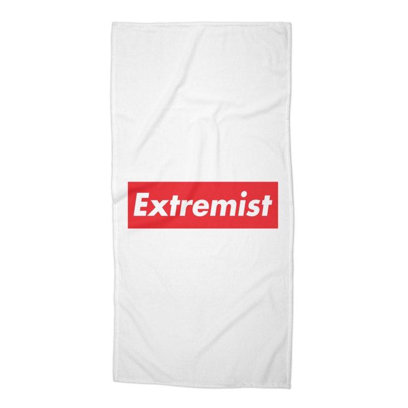 Extremist Accessories Beach Towel by binarygod's Artist Shop