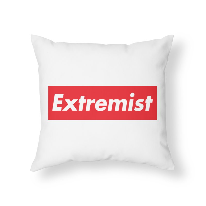 Extremist Home Throw Pillow by binarygod's Artist Shop