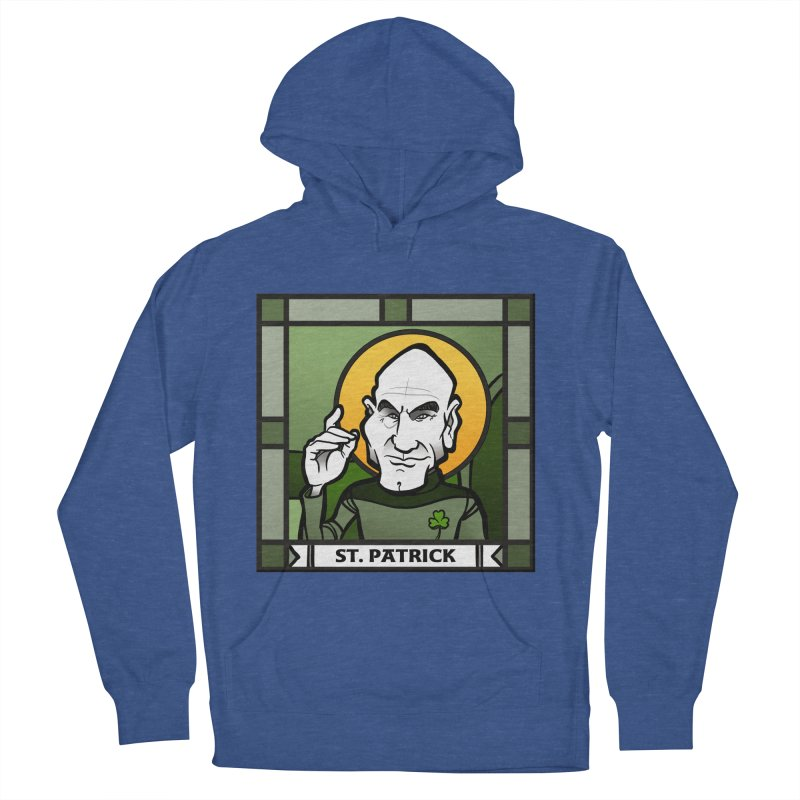 St. Patrick Women's French Terry Pullover Hoody by binarygod's Artist Shop