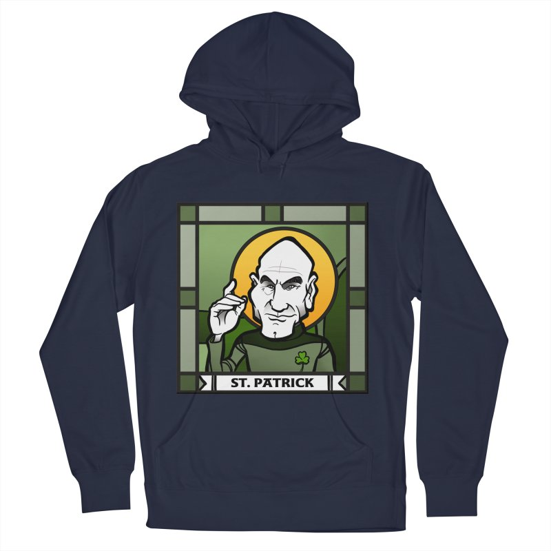 St. Patrick Men's French Terry Pullover Hoody by binarygod's Artist Shop