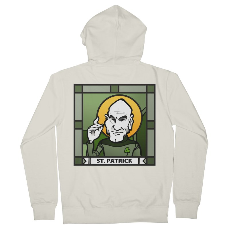St. Patrick Women's Zip-Up Hoody by binarygod's Artist Shop